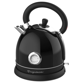 Frigidaire 1.8L Retro Stainless Steel Electric Kettle - Black