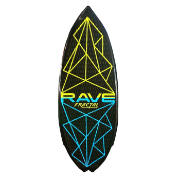 Rave Sports Fractal Wake Surf Board - Blue/Green