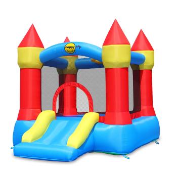 Happy Hop Castle Bouncer with Slide & Hoop