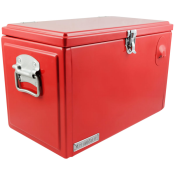 Permasteel 21-Quart Portable Picnic Cooler - Red