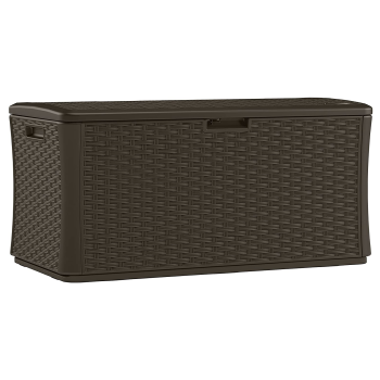 Suncast 134 Gallon Extra Large Wicker Deck Box - Java