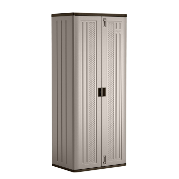 Suncast Tall Storage Cabinet - Platinum Metallic