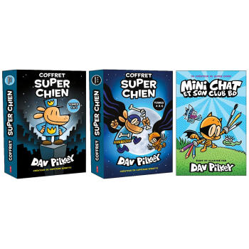 The Cat Kid Bundle by Dav Pilkey - French
