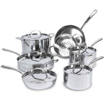 Lagostina® 3-Ply 12-Piece Stainless Steel Set