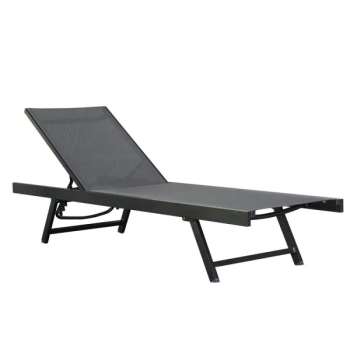 Vivere Urban Aluminum Sun Lounger - Black Chrome