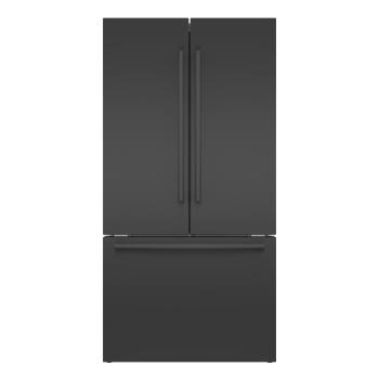 Bosch 800 Series 36'' French Door Bottom Mount Refrigerator - Black Stainless Steel