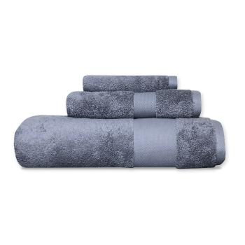 Cuddle Down Alexandria 100% Egyptian Cotton Towel - Dark Grey - Set of 3