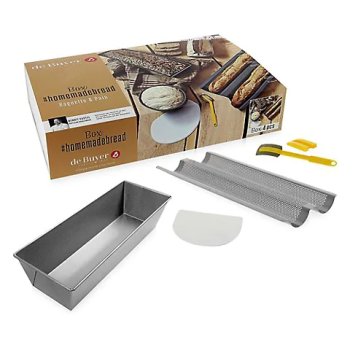 De Buyer Homebread Baguette and Bread Box