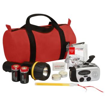 Justin Case® 9-Piece Power Outage Kit with Dynamo Solar AM-FM Radio/Flashlight
