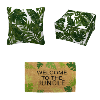Koppers Home 3-Piece Tropical Outdoor Décor Set