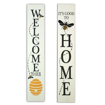 Koppers Home Reversible Bee Porch Sign