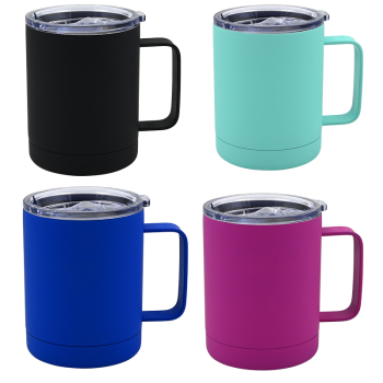 Koppers Home Soft Touch Insulated 12 oz Travel Mug - Set of 4