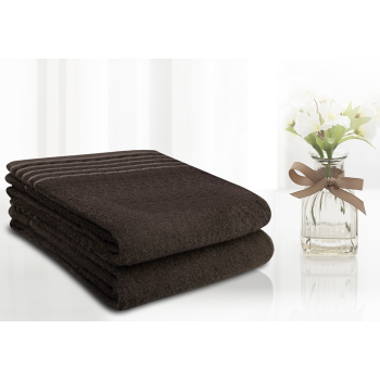 LuxeportSPA 2-Piece Bamboo Bath Sheet Set - Chocolate