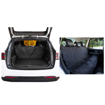 Paw Canada PupProtector™ Back Seat Dog Car Cover + Dog Cargo Liner