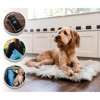 Paw Canada PupRug™ Portable Orthopedic Dog Bed - Grey - Large/Extra Large