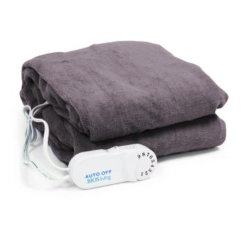 BIOS Living Micro Plush Electric Throw Blanket - Taupe