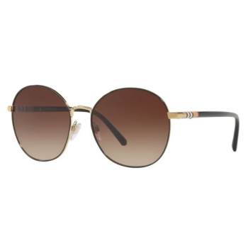 Burberry Ladies Fashion Sunglasses - Light Gold Frames / Light Brown Gradient