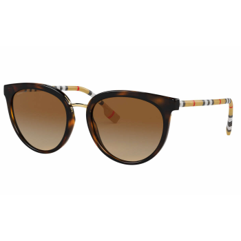 Burberry Willow Ladies Sunglasses - Dark Havana/Gradient Brown