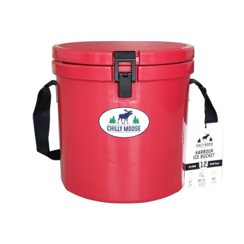 Chilly Moose 12L Harbour Bucket - Canoe Red