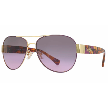 Coach HC7059 Ladies Sunglasses - Purple/Gold/Grey-Purple Gradient