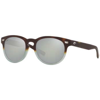 Costa Del Mar Unisex Sunglasses - Matte Tide Pool/ Grey Silver Mirror