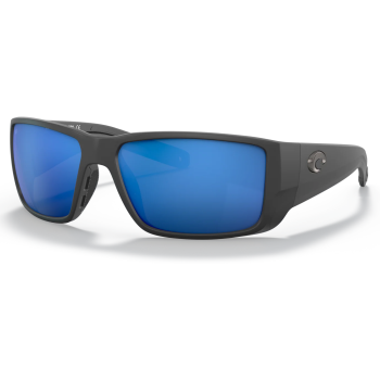 Costa® Blackfin Pro Mens Sunglasses - Matte Black/Blue Mirror