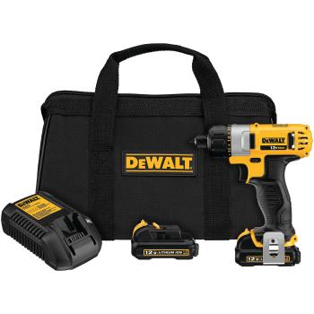 """DeWalt 12v Max 1/4"""" Screwdriver Kit"""