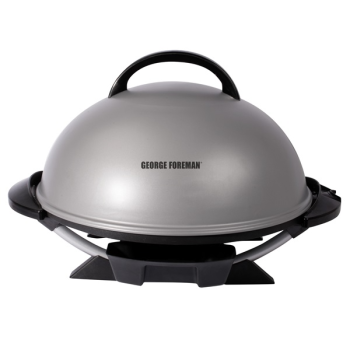 George Foreman® Indoor/Outdoor 15+ Serving Domed Electric Grill - Silver
