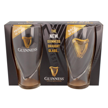 Guinness Gravity 20 Ounce Embossed Pint Beer Glass- Set of 4