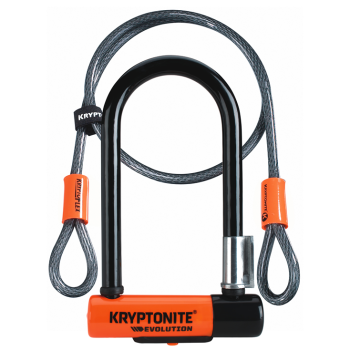 Kryptonite New-U Evolution Mini-7 with Flex Cable Bike Lock