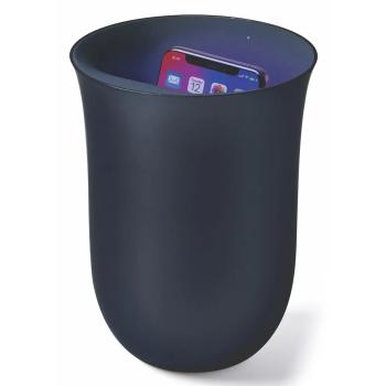 Lexon® Oblio Wireless Charging Station with Built-In UV Sanitizer – Dark Blue