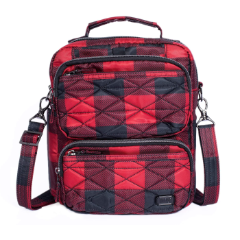 Lug® Compass Crossbody Bag - Buffalo Check Red