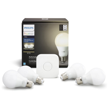Philips Hue White A19 4-Pack Starter Kit