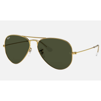 Ray_Ban Aviator Classic Sunglasses - Gold/Green Classic G-15