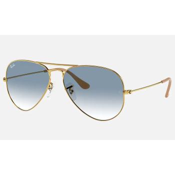 Ray-Ban Aviator Gradient Non-Polarized Sunglasses - Gold/Light Blue Gradient