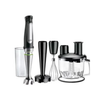 Braun MultiQuick Immersion Hand Blender (6-Cup Food Processor, Whisk, Beaker, Masher)