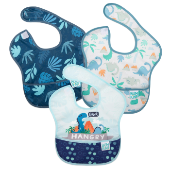 Bumkins 3-Pack SuperBib®: Hangry, Dinosaurs and Blue Tropic