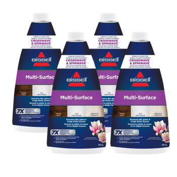 BISSELL CrossWave® and SpinWave™ Multi-Surface 32 oz Cleaning Formula - 4-Pack