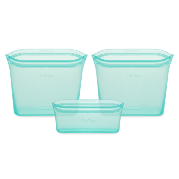 Zip Top® Reusable Silicone Bags – Set of 3 – Teal