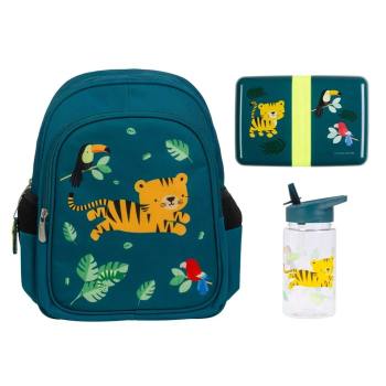 A Little Lovely Company™ School Set: Backpack – Jungle Tiger