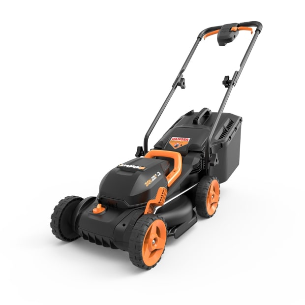 "Worx® 2x20V (4.0AH) Cordless 13"" Lawn Mower with Mulching Capabilities and Intellicut #1"