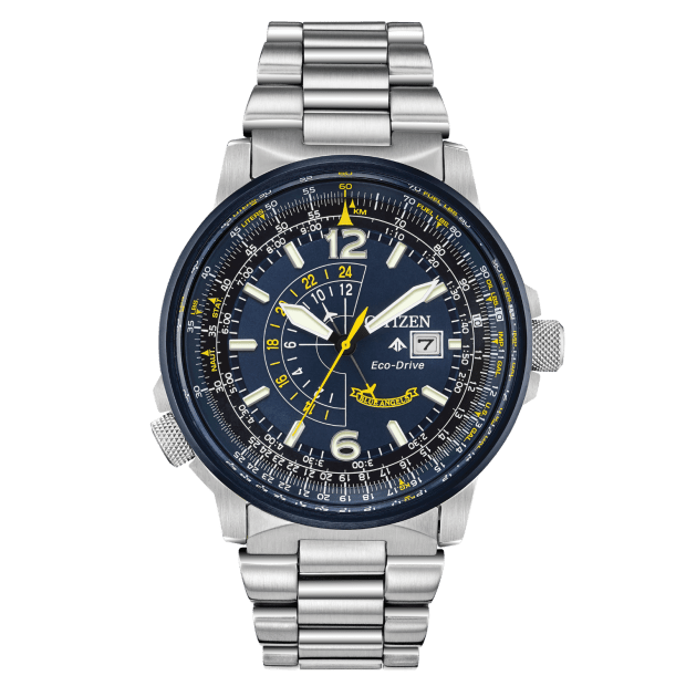 Citizen Men's Eco-Drive Blue Angels Promaster Nighthawk Stainless Steel Watch #1