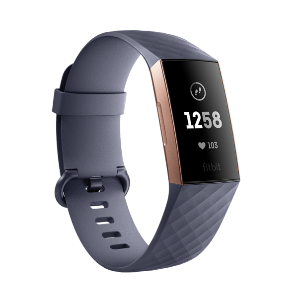 Fitbit Charge 3 Fitness Tracker with Heart Rate Monitor - Blue Grey/Rose Gold #1