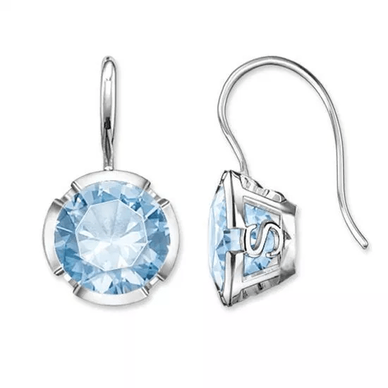 Thomas Sabo Glam & Soul Sterling Silver Signature Light Blue Earrings