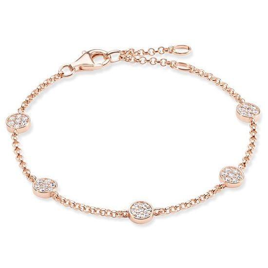 Thomas Sabo Glam & Soul Sterling Sparkling Circles Bracelet