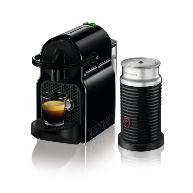 Nespresso Inissia Espresso Machine with Aeroccino - Black
