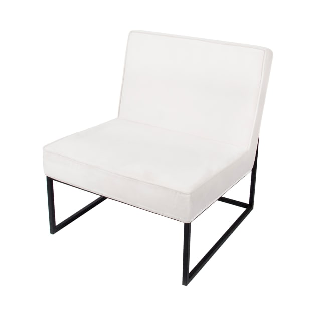 Home Details Wide Velvet Chair - Ivory
