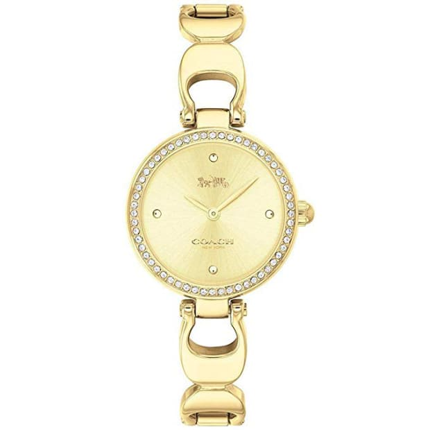 Coach Park Sig C Gold Toned Bangle Watch #1