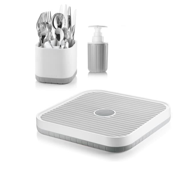 Guzzini Modular Countertop Sink Drying Rack 3-Piece Component System - Grey/White