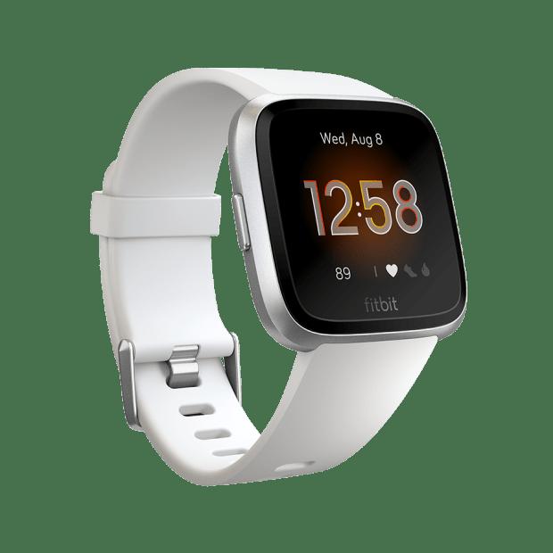 Fitbit Versa Lite Watch - White/Silver Aluminum #1